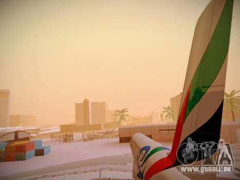 Airbus A380-800 Emirates Rugby World Cup für GTA San Andreas Motor