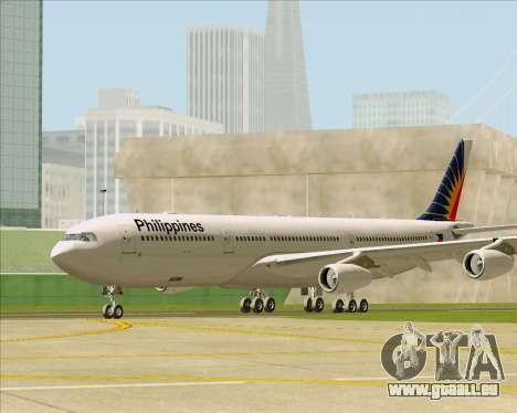 Airbus A340-313 Philippine Airlines für GTA San Andreas zurück linke Ansicht