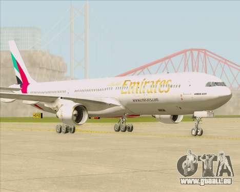 Airbus A330-300 Emirates pour GTA San Andreas laissé vue