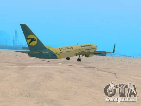 Boeing 737-84R Ukraine International Airlines für GTA San Andreas rechten Ansicht