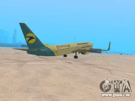 Boeing 737-84R Ukraine International Airlines pour GTA San Andreas vue de droite