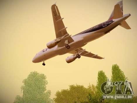 Airbus A320-214 LAN Airlines pour GTA San Andreas vue intérieure