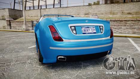 GTA V Enus Cognoscenti Cabrio für GTA 4 hinten links Ansicht