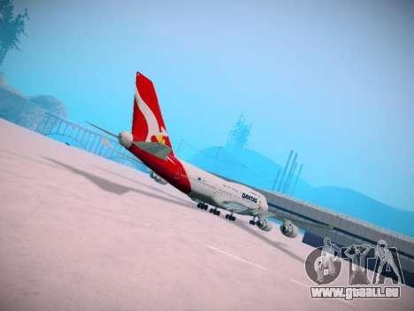 Boeing 747-438 Qantas Boxing Kangaroo pour GTA San Andreas vue intérieure