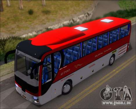 MAN Lion Coach Rural Tours 2790 pour GTA San Andreas vue arrière