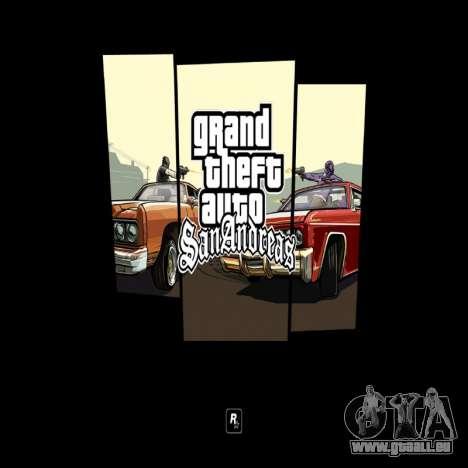 HD écran de chargement et de menus pour GTA San Andreas troisième écran