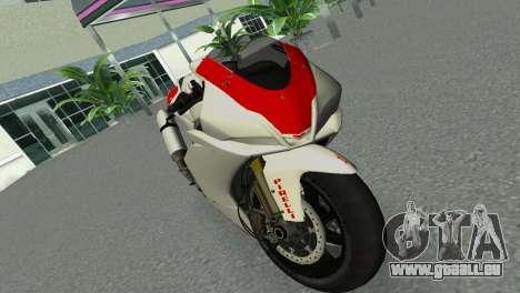 Aprilia RSV4 2009 Gray Edition pour une vue GTA Vice City de la droite