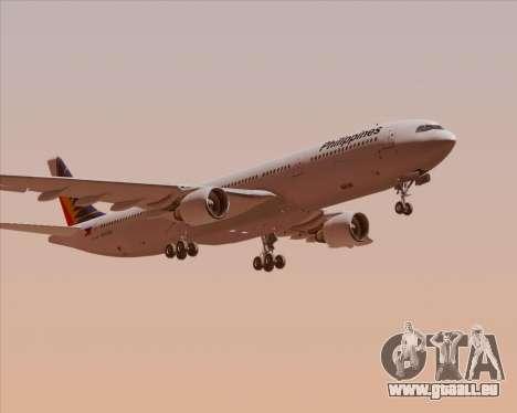 Airbus A330-300 Philippine Airlines pour GTA San Andreas vue intérieure