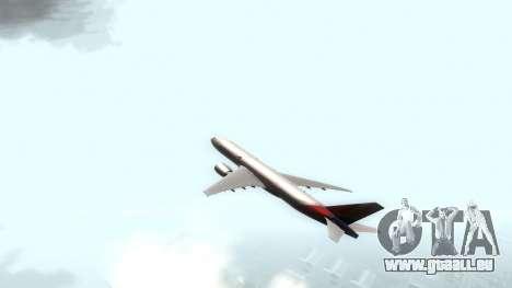 Boeing 777-280ER Asiana Airlines pour GTA San Andreas sur la vue arrière gauche