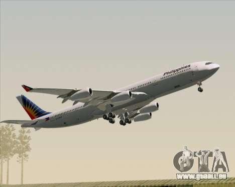 Airbus A340-313 Philippine Airlines pour GTA San Andreas moteur