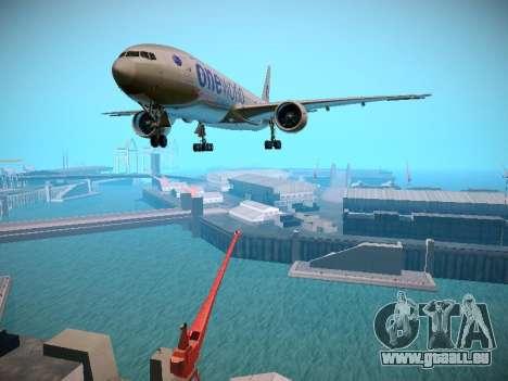 Boeing 777-223ER American Silver Bullet pour GTA San Andreas laissé vue