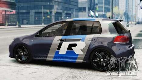 Volkswagen Golf R 2010 Polo WRC Style PJ2 für GTA 4 linke Ansicht