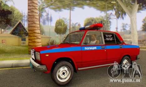 VAZ 2107 Police pour GTA San Andreas laissé vue