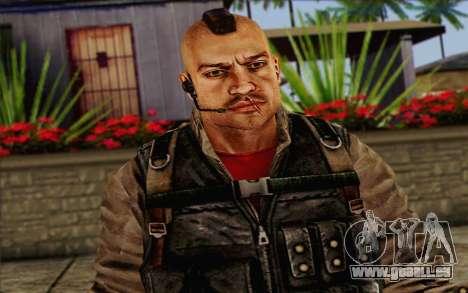 Les soldats de la Rogue Warrior 2 pour GTA San Andreas troisième écran