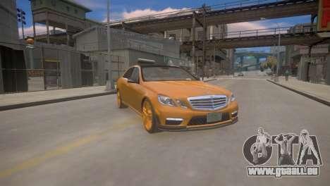 Mercedes-Benz E63 AMG для GTA 4 für GTA 4 Rückansicht