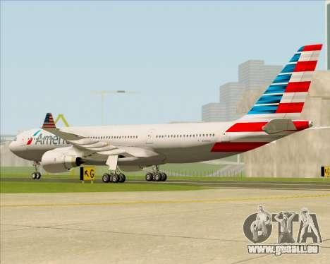 Airbus A330-200 American Airlines für GTA San Andreas rechten Ansicht