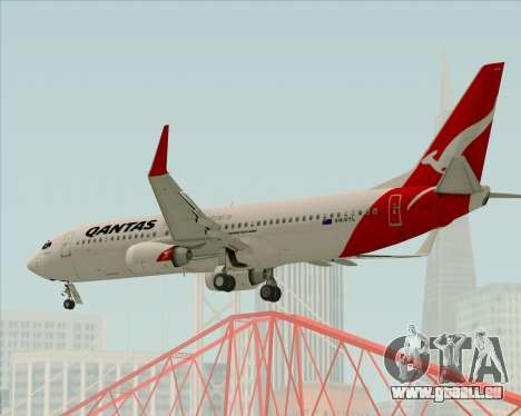 Boeing 737-838 Qantas pour GTA San Andreas vue de dessus
