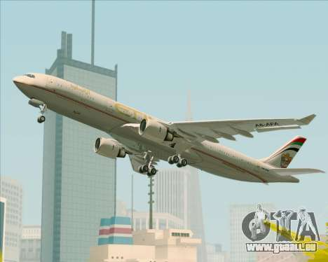 Airbus A330-300 Etihad Airways für GTA San Andreas Räder