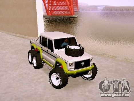 Benefactor Dubsta 6x6 für GTA San Andreas