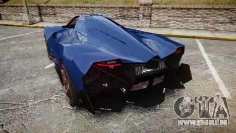 Lamborghini Egoista pour GTA 4 Vue arrière de la gauche