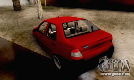 Fiat Siena 1998 pour GTA San Andreas laissé vue