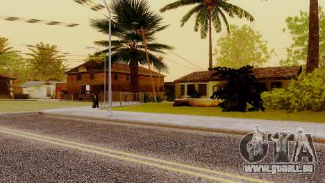 Neue Texturen Häuser auf der grove street für GTA San Andreas her Screenshot