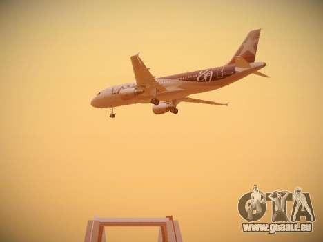Airbus A320-214 LAN Airlines 80 Years für GTA San Andreas Rückansicht