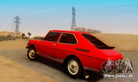 Saab 99 Turbo 1978 pour GTA San Andreas laissé vue