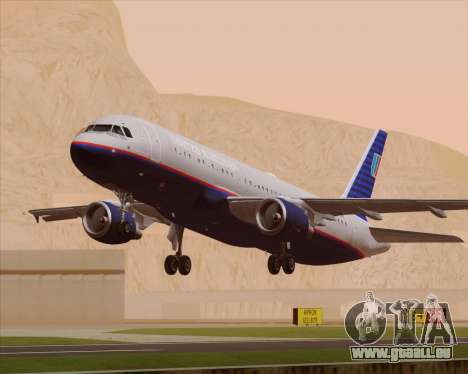 Airbus A320-232 United Airlines (Old Livery) pour GTA San Andreas moteur