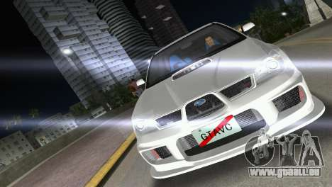 Subaru Impreza WRX STI 2006 Type 3 pour une vue GTA Vice City de la droite