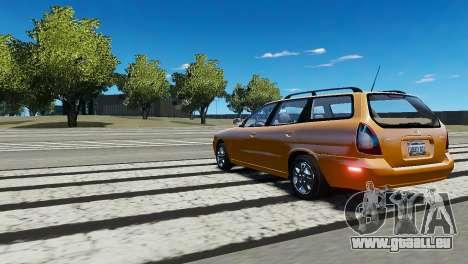 Daewoo Nubira I Wagon CDX US 1999 pour GTA 4 est un droit