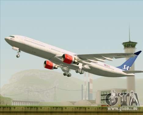 Airbus A330-300 Scandinavian Airlines System. pour GTA San Andreas vue intérieure