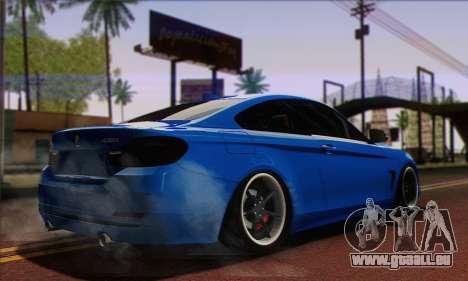 BMW 435i Stance pour GTA San Andreas laissé vue