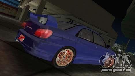 Subaru Impreza WRX 2002 Type 2 pour une vue GTA Vice City de la gauche
