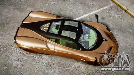 Pagani Huayra 2013 für GTA 4 rechte Ansicht