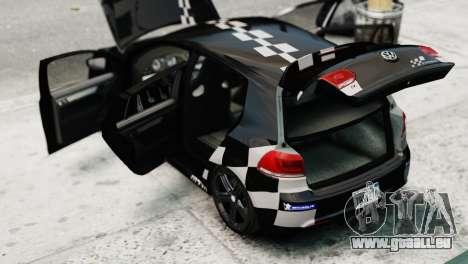 Volkswagen Golf R 2010 MTM Paintjob pour GTA 4 Vue arrière