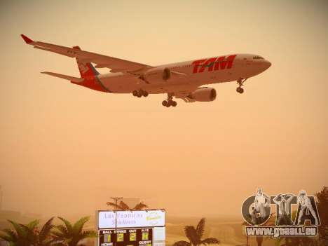 Airbus A330-200 TAM Airlines pour GTA San Andreas vue de dessus