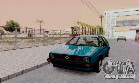 Volkswagen Golf 2 GTi pour GTA San Andreas vue intérieure