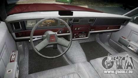 Chevrolet Impala 1985 pour GTA 4 Vue arrière