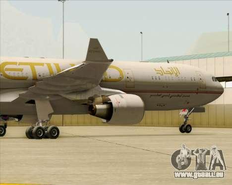 Airbus A330-300 Etihad Airways für GTA San Andreas Seitenansicht