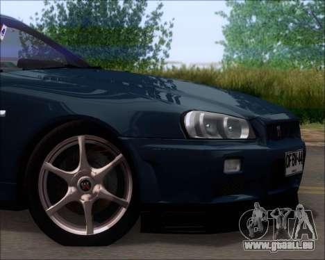 Nissan Skyline GT-R R34 V-Spec II für GTA San Andreas Seitenansicht