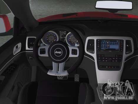 Jeep Grand Cherokee SRT-8 (WK2) 2012 für GTA Vice City obere Ansicht