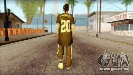 Afro - Seville Playaz Settlement Skin v4 pour GTA San Andreas deuxième écran