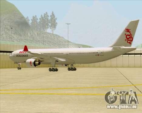 Airbus A330-300 Dragonair für GTA San Andreas zurück linke Ansicht
