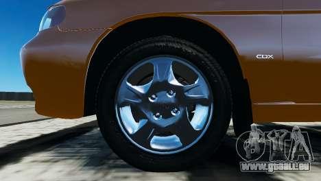 Daewoo Nubira I Wagon CDX US 1999 pour GTA 4 est une vue de l'intérieur