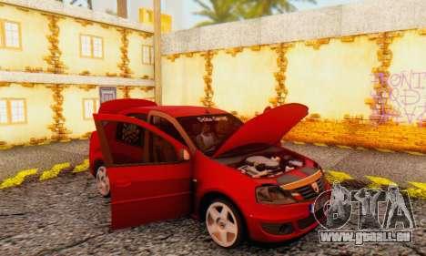 Dacia Logan Delta Garage für GTA San Andreas Innenansicht