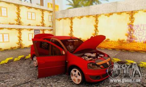 Dacia Logan Delta Garage pour GTA San Andreas vue intérieure