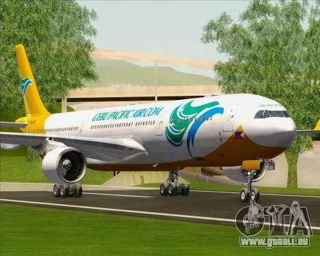 Airbus A330-300 Cebu Pacific Air für GTA San Andreas Räder