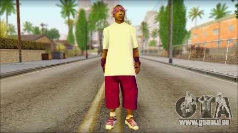 East Side Ballas Skin 1 pour GTA San Andreas