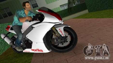 Aprilia RSV4 2009 White Edition I für GTA Vice City rechten Ansicht